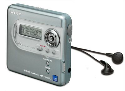 Sony MZ-NH600 Hi-MD Net-MD Walkman MiniDisc Recorder Mini Disc MP3 Player silber