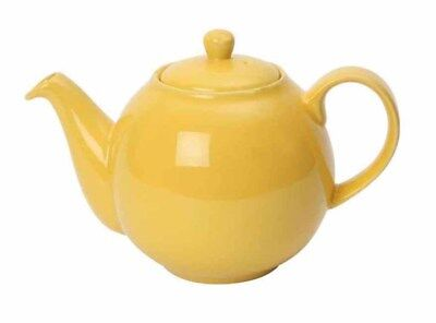 London Pottery 2 Cup 0.5L Small Ceramic Lemon Yellow Globe Teapot Tea Pot Boxed
