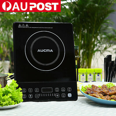AUCMA Protable Electric Induction Cooktop Ceramic Glass Cookware BlackCooker NEW