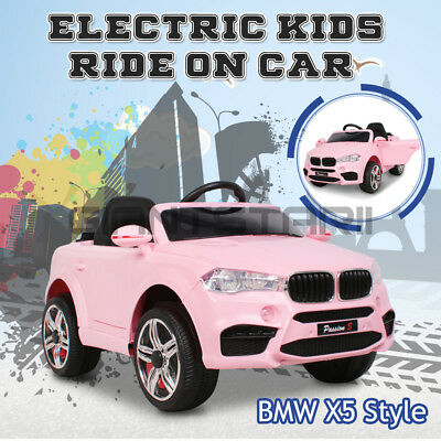 Electric Kids Ride On Car BMW X5 Inspired Children Toy Battery Remote 12V Pink