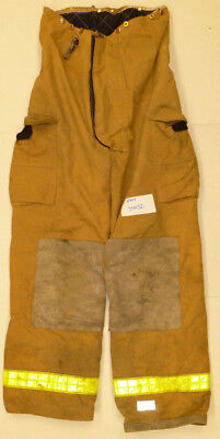 34x32 Pants Firefighter Turnout Bunker Brown Fire Gear w/ Liner Body-Guard P801