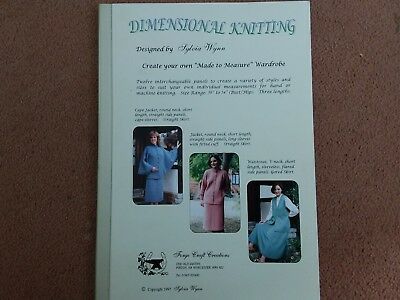"""Great Booklet..DIMENSIONAL KNITTING...size range 36"""" to 54"""" by Sylvia Wynn.."""