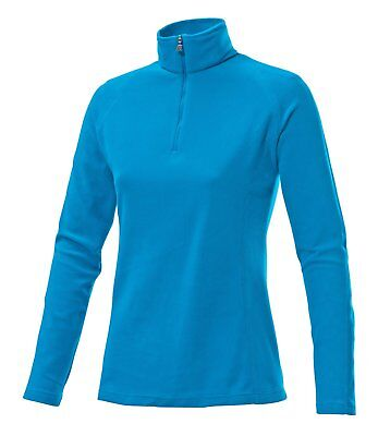 Medico Damen Skirolli Fleece Pullover Shirt Blau Gr. 34 - 46