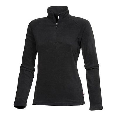 Medico Damen Skirolli Fleece Pullover Shirt Schwarz Gr. 34 - 46