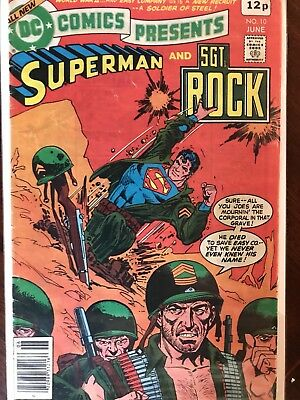 Superman And Sgt Rock - DC Comics Presents. Issue 10. FN/FN+  1979 One Owner