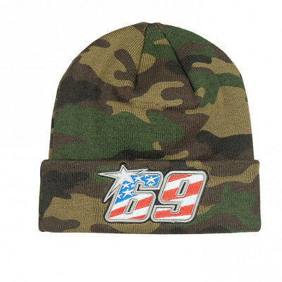 2d68d8854d0 Nicky Hayden 69 Moto GP Camouflage Logo Beanie Official 2018