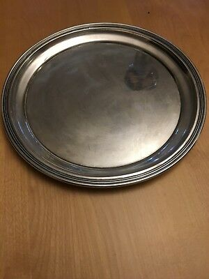 "Vintage, 10"" sterling silver circular plate. Gorham Silver Co of Providence"