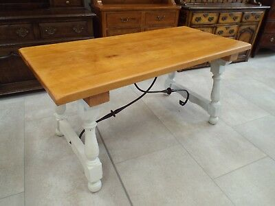 Spanish Style Painted Shabby Chic Refectory Dining Table