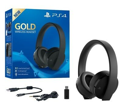 Cuffie Sony Gold Wireless Playstation 4 2.0 Stereo Gioco Headset Senza Filo Ps4