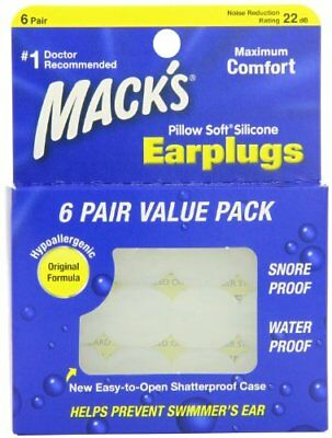 Mack's Pillow Soft Silicone Earplugs 6 PR