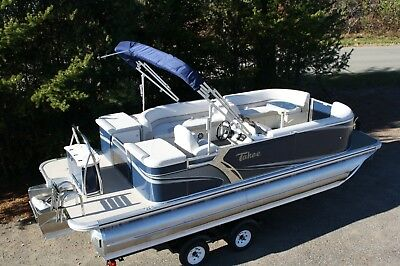 New  22 Ft Tahoe LTZ Tritoon with 175 hp and trailer