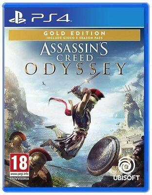 Assassin's Creed Odissey - Gold Edition Ps4 Videogioco Italiano Play Station 4