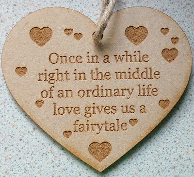 Once In A While - Fairytale Heart Sign - Freepost