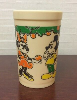 Vintage Walt Disney Prod. Mickey Minnie Mouse EAGLE Plastic Juice Cup