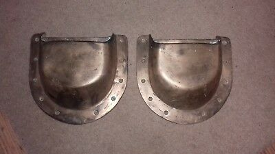 Vintage old Solid Bronze BOAT scoops x 2 Large  fittings vents