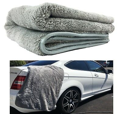 "HUGE XXL 25"" x 36"" WOOLLY MAMMOTH MICROFIBER CAR DRYING TOWEL WATER ABSORBER"