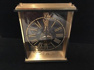 Rare Vintage Bulova 7 Jewels 8 Day Clock Must See No Reserve Increadable
