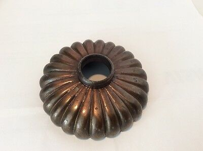 "3/4"" Ornate Door Knob Rosette Escutcheon Bronze Cover Plate Steampunk Hardware"