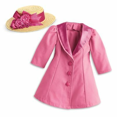 AMERICAN GIRL SAMANTHA BeForever Pink Travel Coat and Hat ~Crushed Box~