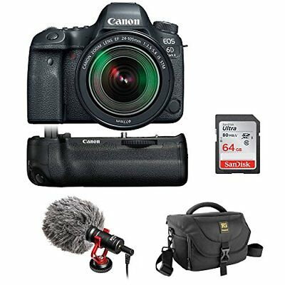 Canon EOS 6D Mark II DSLR Camera with 24-105mm f/3.5-5.6 Lens & Battery Grip Kit