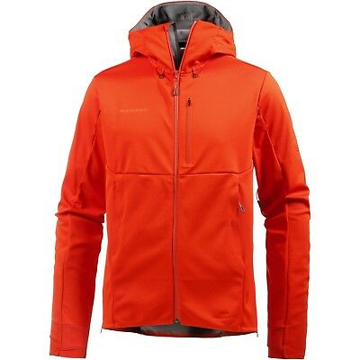Mammut Herren Ultimate V SO Hooded Kapuzenjacke orange-titanium ganz  Neu Gr. M
