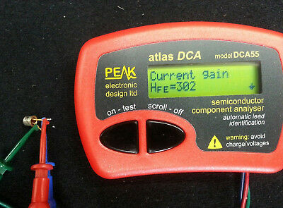 Genuine Peak Electronics Atlas DCA55 Semiconductor Analyser Analyzer Identifier