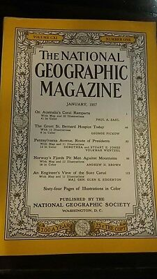 National Geographic magazine January 1957
