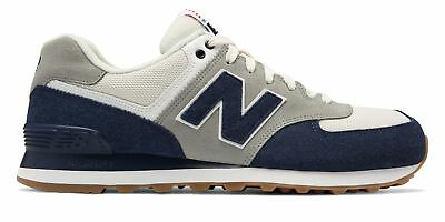 New Balance Men's 574 Retro Sport Shoes Navy with Silver