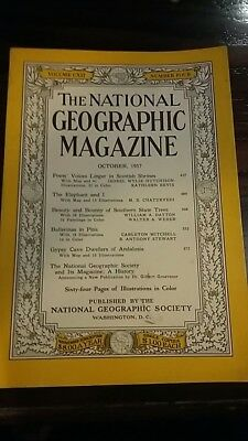 National Geographic magazine October 1957