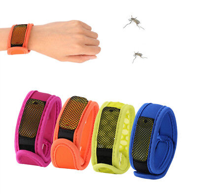 DEET FREE Mosquito Bug Insect REPELLENT BRACELETS Camping Wrist Bands 4x REFILLS