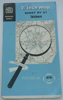 Vintage Ordnance Survey Map (Sheet Ny 31) Thirlmere  Area - Price 6/6