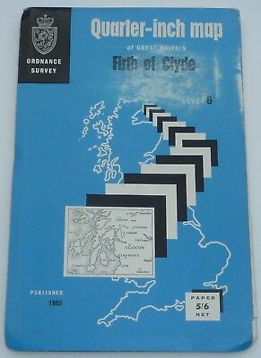Vintage Ordnance Survey Map - Firth Of Clyde  Area  Dated Mid 1960`s