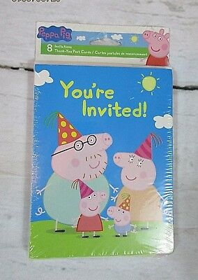 Peppa Pig Birthday Party Invitations 10 Pieces Kids Us Seller New