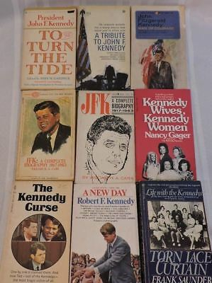 John F Kennedy Books Vintage Jackie Bobby Robert President Conspiracy GREAT LOT