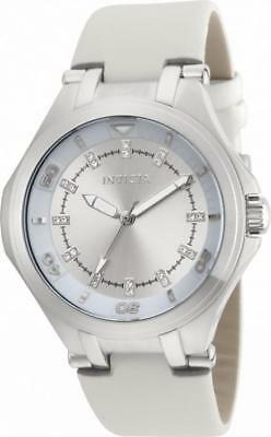 Invicta Wildflower 21755 Women's Round Analog Clear Crystal Leather Watch