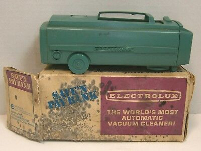 Vintage Electrolux Vaccum Cleaner 'Save'N Pay' Coin Bank - exc, OB