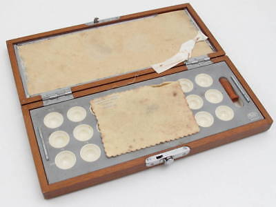 vintage carl zeiss jena empty wooden ophthalmic surgeon box collectible optician