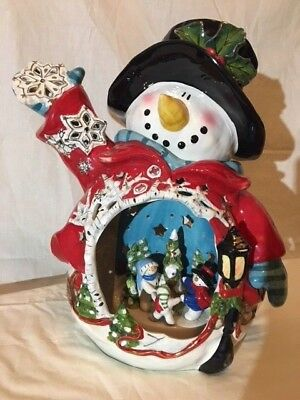 Blue Sky Clayworks  Circle of Friends Snowman by Heather Goldminc Retired