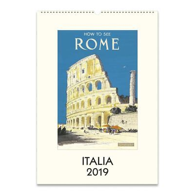 Cavallini Papers & Co. 2019 Italia Wall Calendar, Multicolour