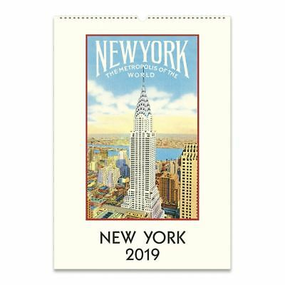 Cavallini Papers New York 2019 Wall Calendar, Multicolor