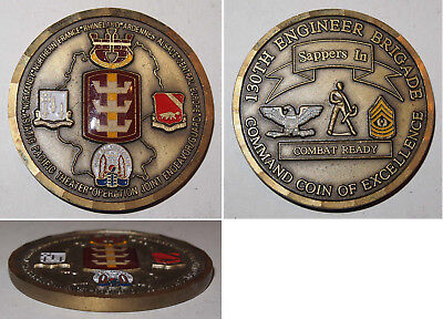 Medaille 130th Engineer Brigade  Command Coin of Excellence
