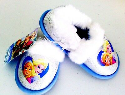 New Toddler Fuzzy Slippers Blue Girls Shoes