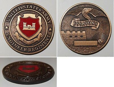 Medaille United States Army Engineer Regiment Essayons / Challenge Coin