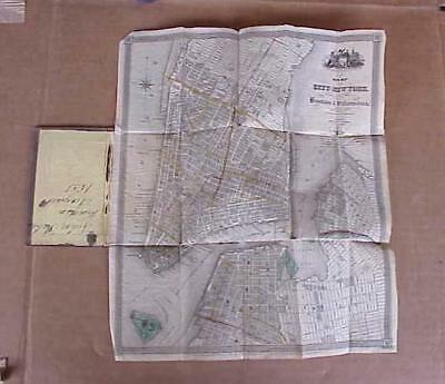 1839 Pocket Map of New York City Issued by J.Calvin Smith Rare