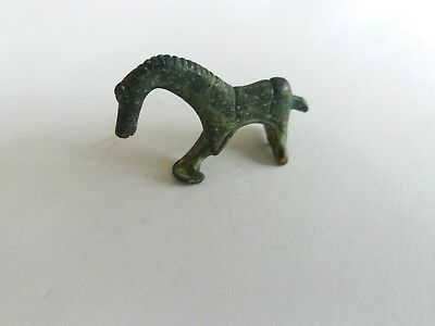 Ancient Roman Bronze  Horse Fibula Brooch