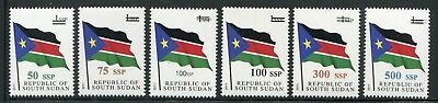 South Sudan 2017 NH Surcharges on Flags Set of 6 Stamps