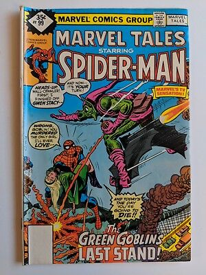 Marvel Tales #99 Marvel Comic Whitman Variant Reprints Amazing Spider-Man #122