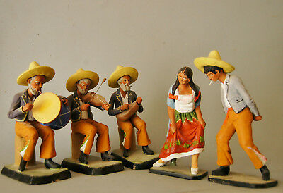 Fabulous Mexican Pottery Band With Dancers