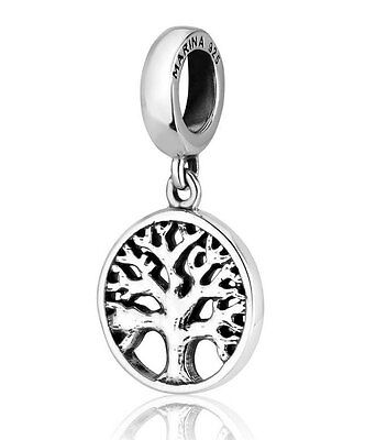 925 STERLING SILVER TREE OF LIFE PENDANT CHARM - Fits European Style Bracelets