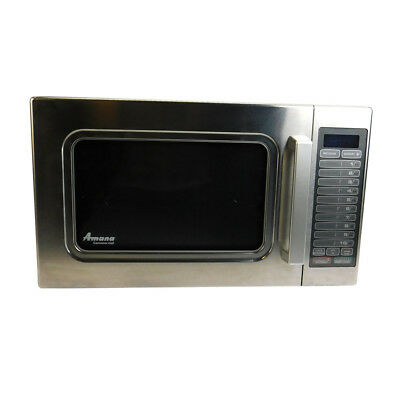 Amana ALD10T Commercial 1.2 CuFt Stainless Steel 1000 Watt Microwave Oven 1kW